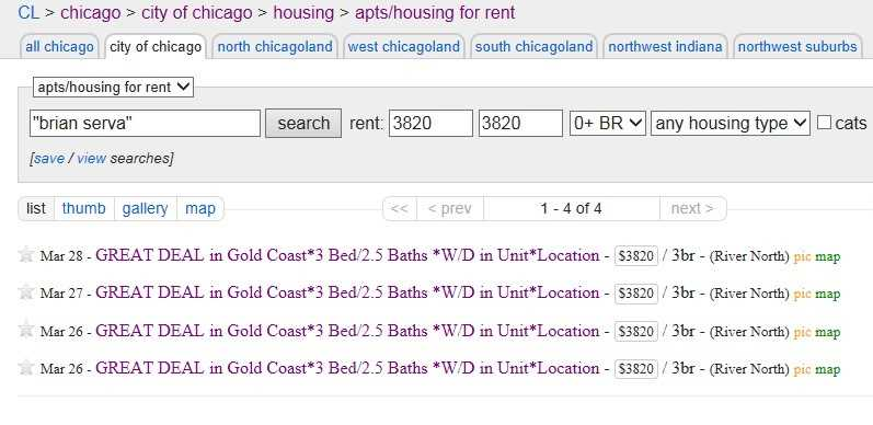 Is Chicagoland Property Group Craigslist's worst apartment spammer?
