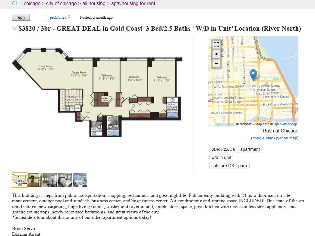 Is Chicagoland Property Group Craigslist\'s worst apartment spammer ...