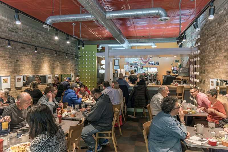 Over Easy Café, Damen Ave, Chicago