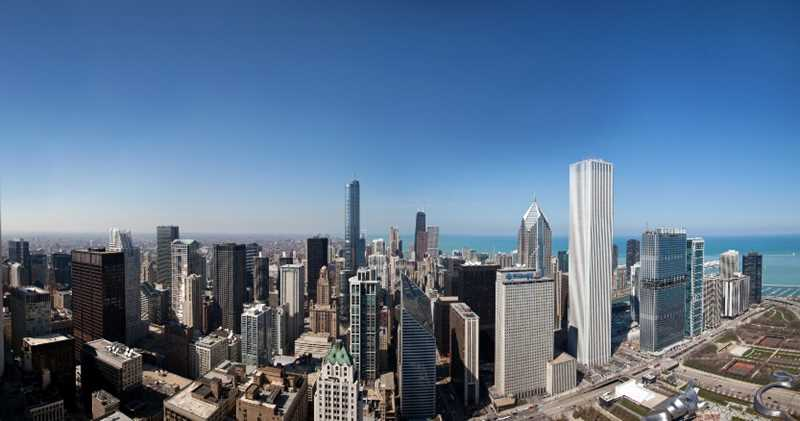 Chicago, New East Side viewed from Legacy condos, photo by Michael Kardas