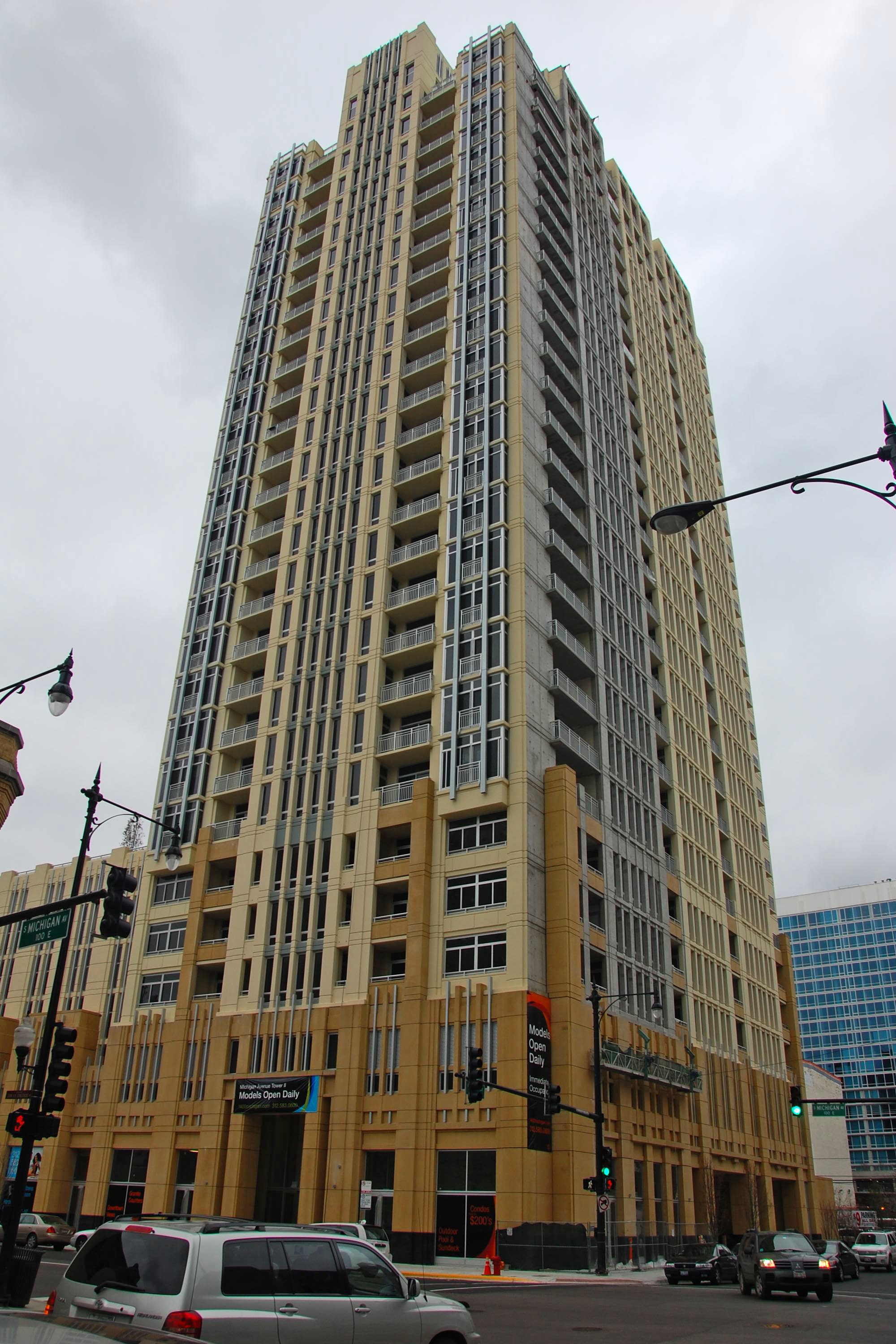 Unit details and minimum bids for Michigan Avenue Tower II's condo auction