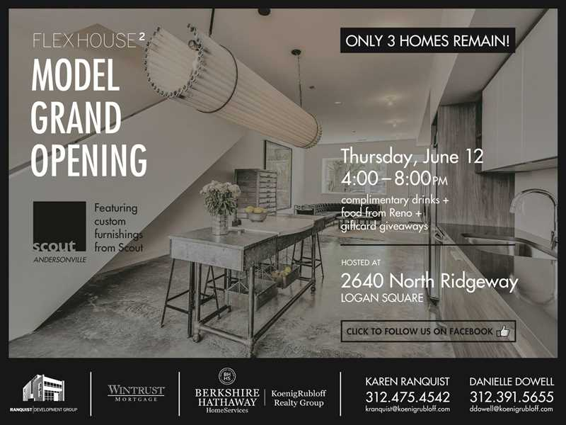 Model grand opening at nearly sold-out Flexhouse2