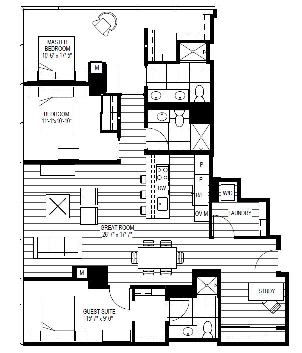 Optima Center Apartments, 200 E Illinois St, Streeterville