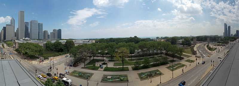 The panoramic view from the Richelieu Flats
