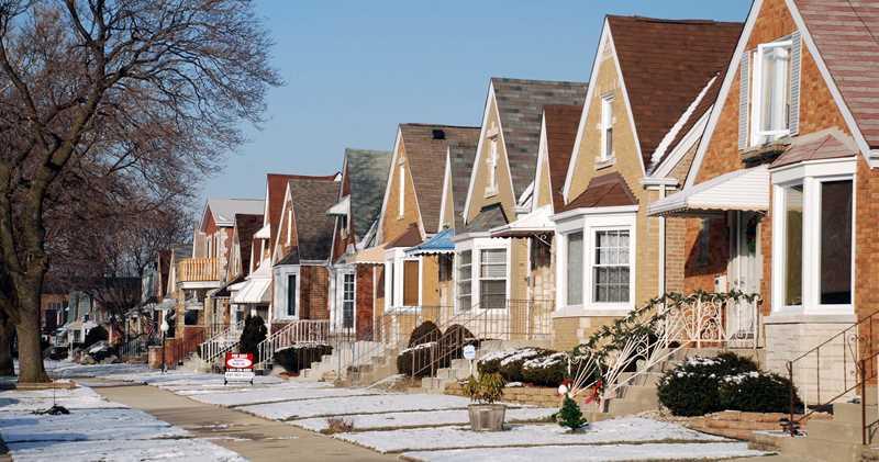 Schorsch Village Chicago streetscape