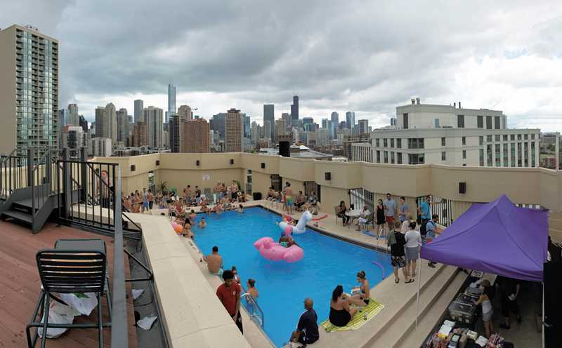 Video – a walk around the pool party at 1120 North LaSalle
