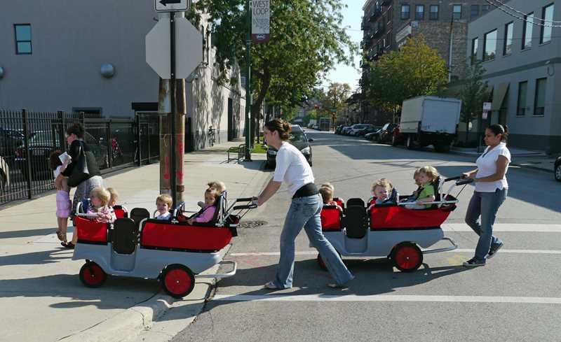 West Loop kiddie carts