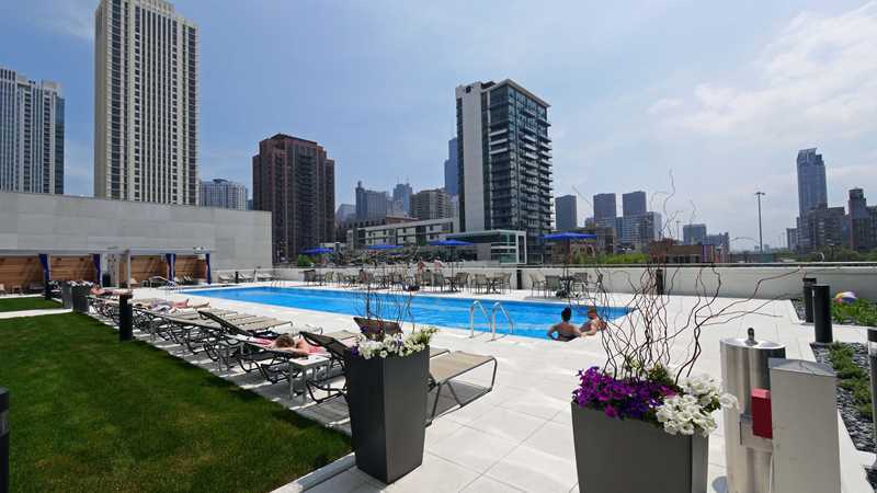 Countdown to pool time at K2 apartments in the Fulton River District