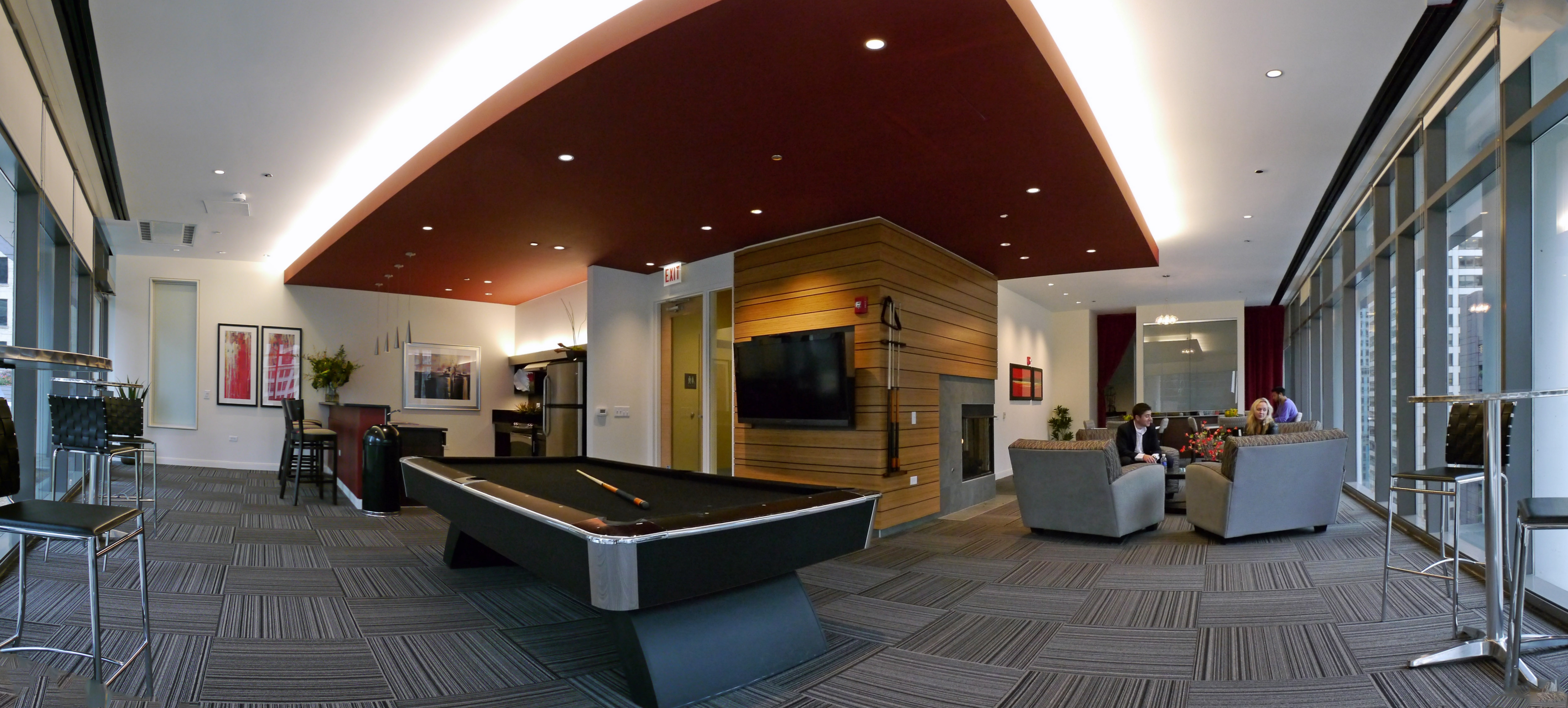 The large resident lounge has a kitchen bar gaming areas a gas