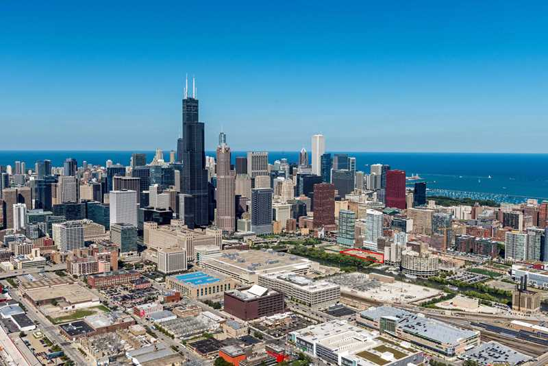 Aerial view of Ancora location, Chicago