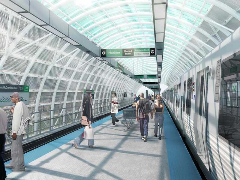 New CTA Green Line station opens near The LEX apartments