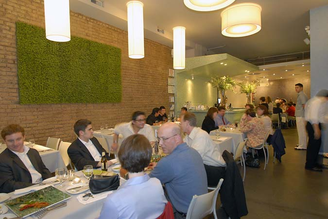 Diners at Follia, an upscale Italian restaurant, at 953 Fulton Market