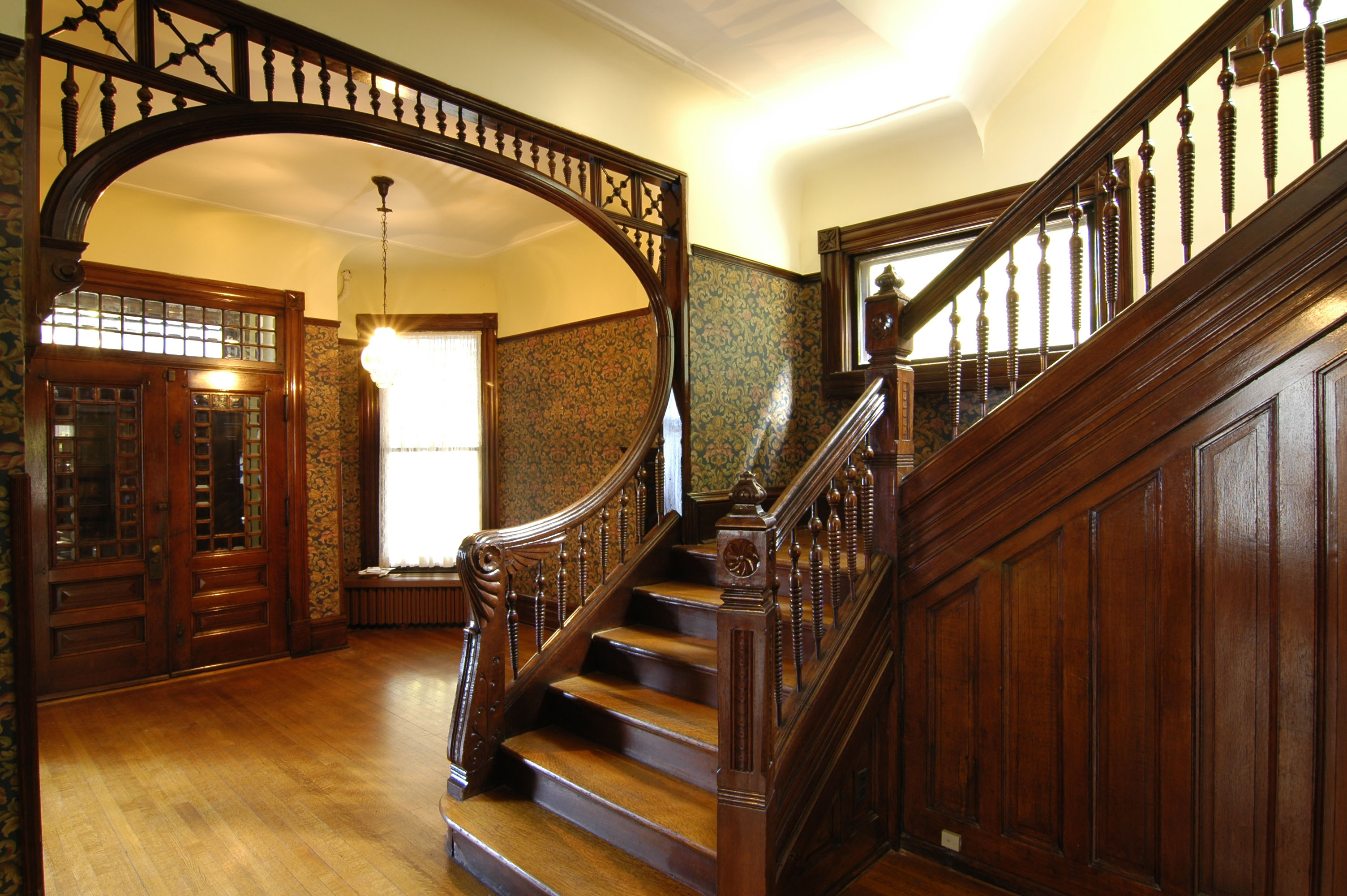 Victorian Mansion Foyer : Restored victorian single family home on the market in