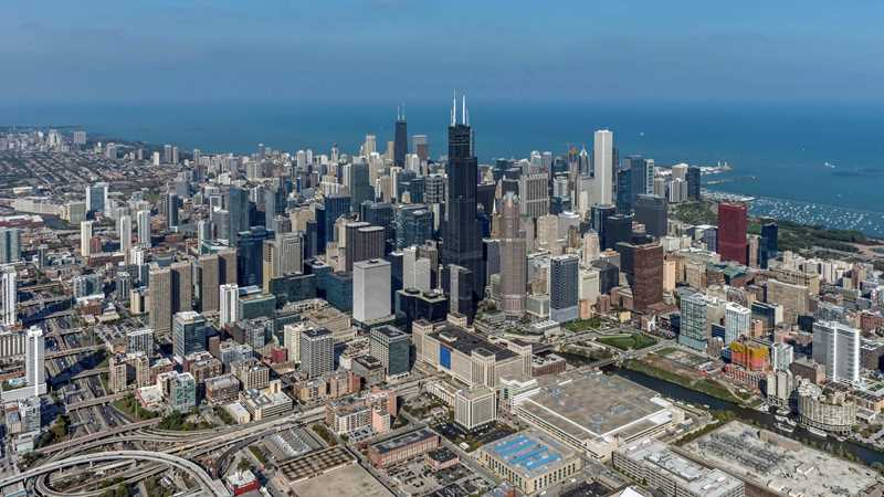 Aerial view of Willis Tower, Chicago