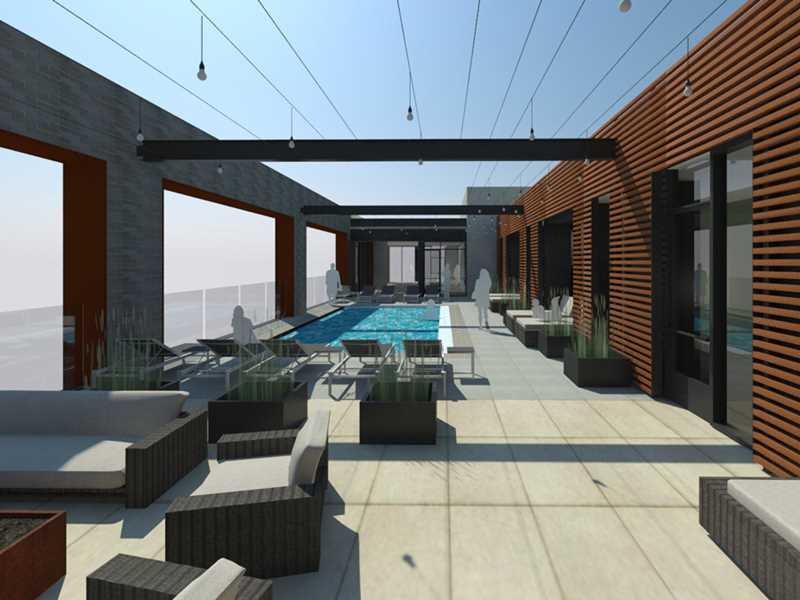Pool rendering, 165 North Desplaines, Chicago
