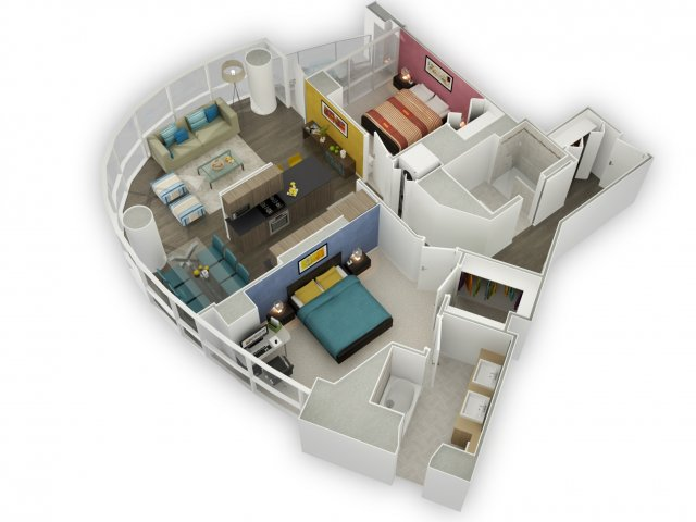 River Norths Best Apartments Two Bedroom Floor Plan YoChicago