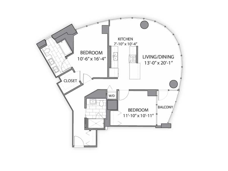 River North\'s best apartments – two-bedroom floor plan – YoChicago