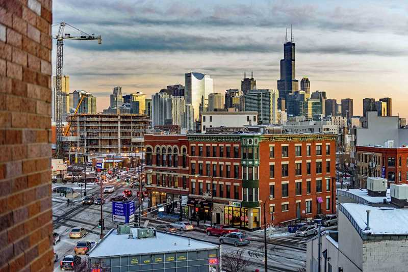 View southeast from Linkt, Chicago
