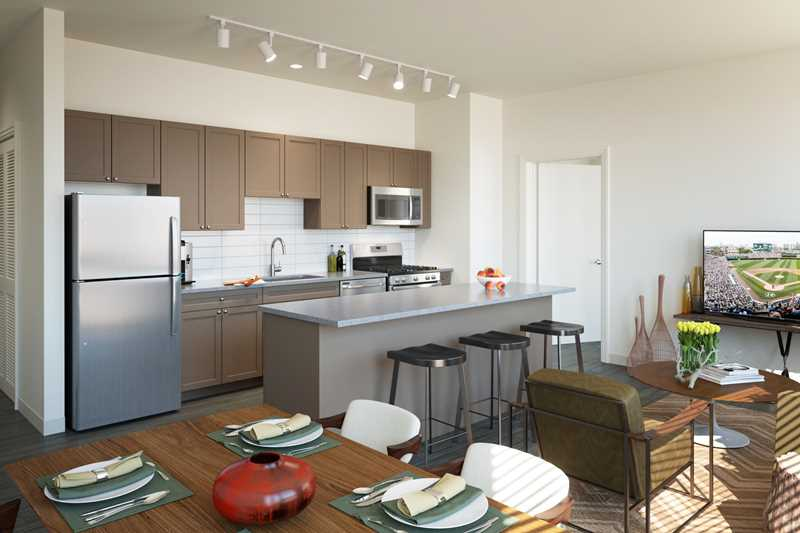New apartments at Linkt in pedestrian-friendly, transit-friendly River West