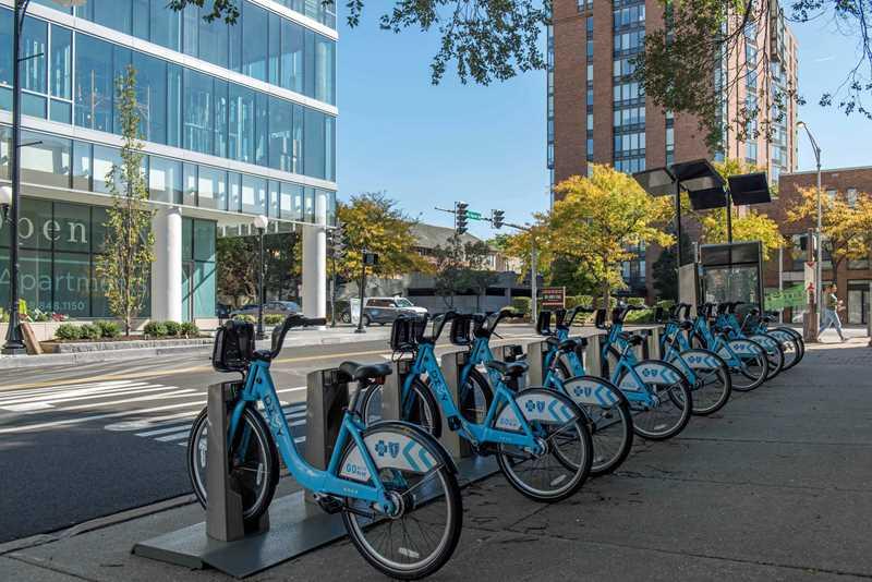 DIVVY bikes near The Emerson
