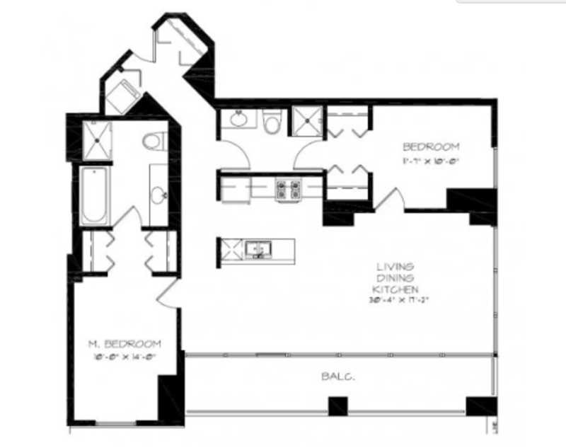 Astoria Tower has great South Loop 2-bedrooms