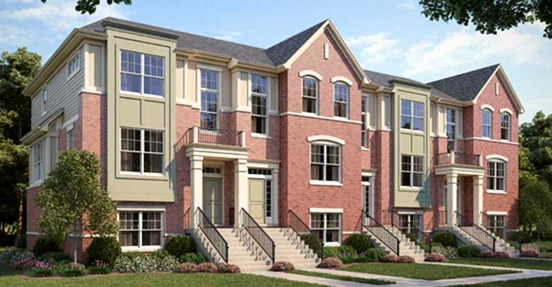 Stately new townhomes in the Stevenson High School District