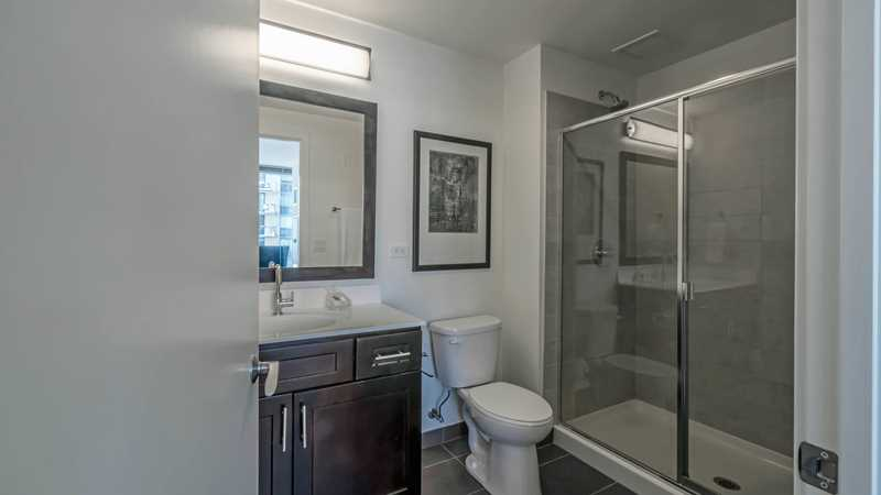 the home has two full baths the master suite has a walk in closet and