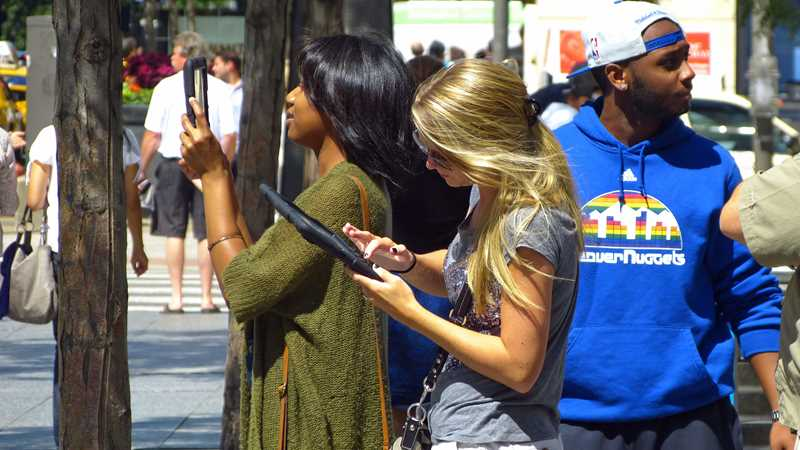 Tablets on Michigan Avenue, then and now