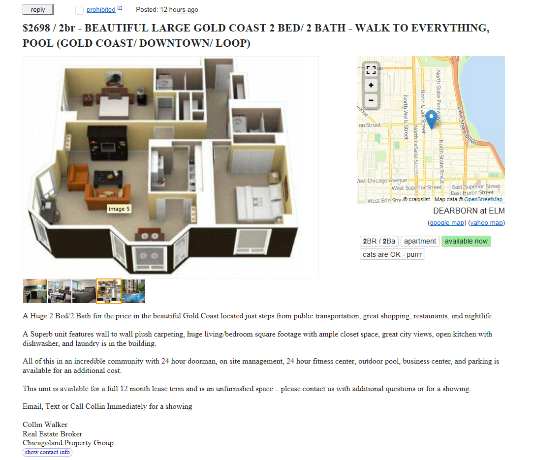 A flood of bait-and-switch apartment ads at Craigslist – YoChicago