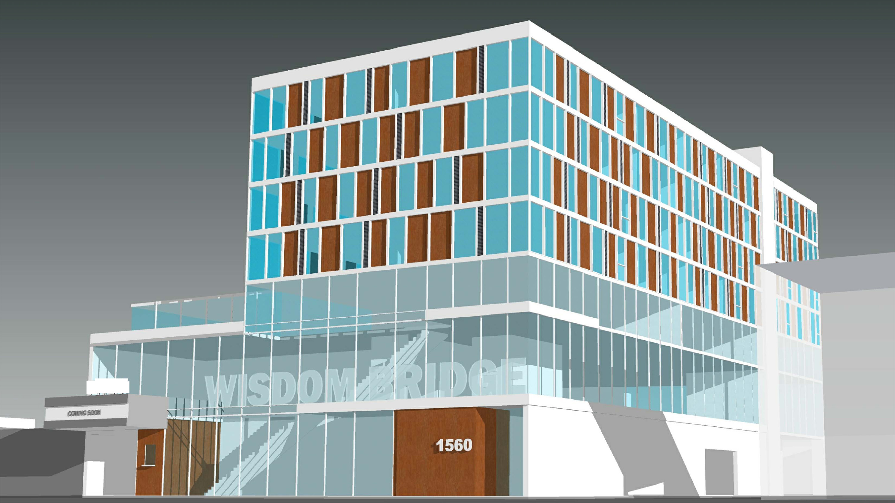 Old rendering for 1557 - 1561 W Howard St, Chicago