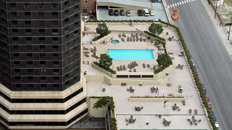 Lake Shore Plaza, pool deck, Chicago