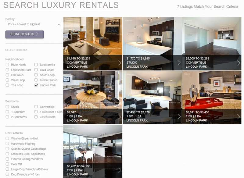 Apartment rental service misdirection, Luxury Living Chicago edition