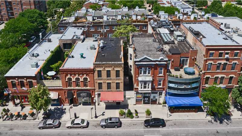 Apartments on Chicago's most pedestrian-friendly street