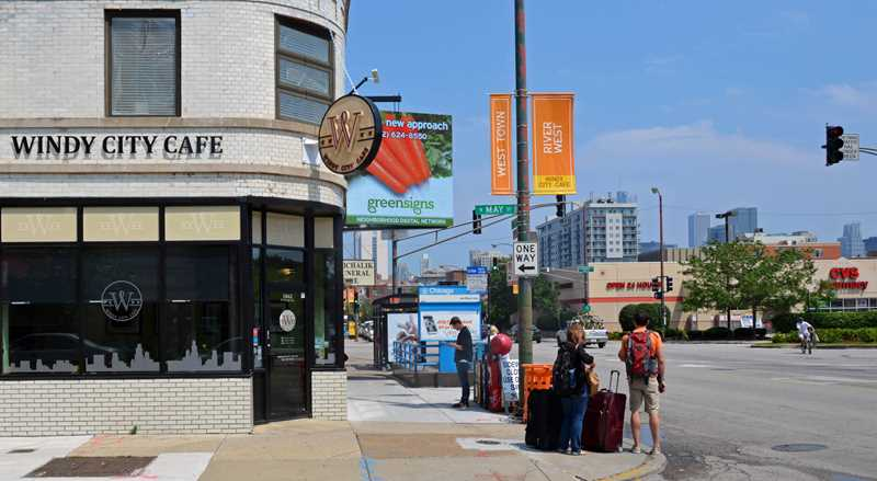 Windy City Café, Blue Line at Chicago Ave, Chicago