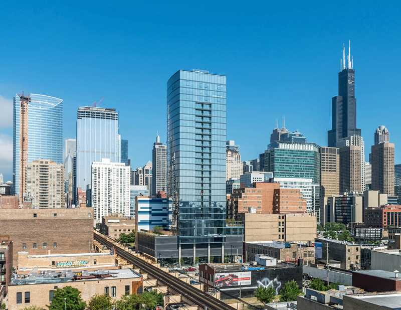 "The West Loop's newest apartment tower, steps from ""restaurant row"""