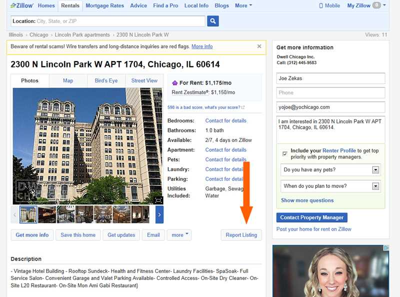 Zillow purges illegal Chicago rental service ads