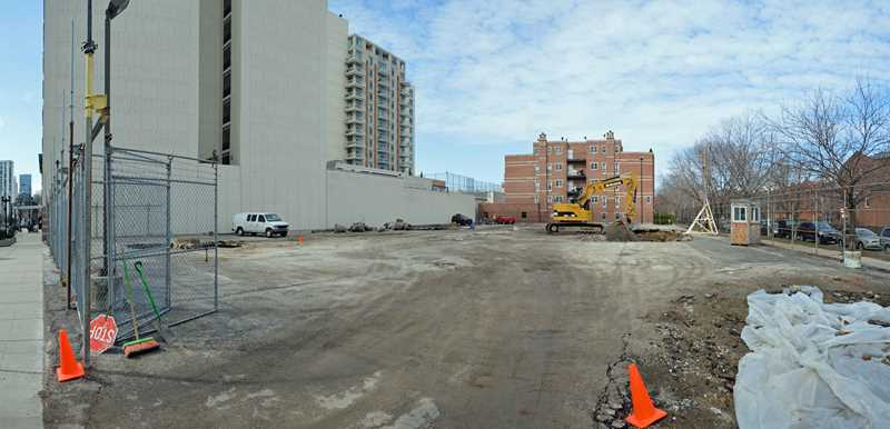 Construction underway on Old Town apartments