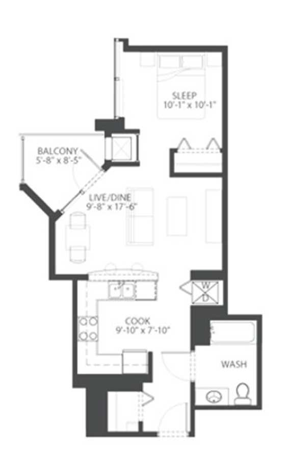 The South Loop\'s best apartments – studio / convertible floor plan ...