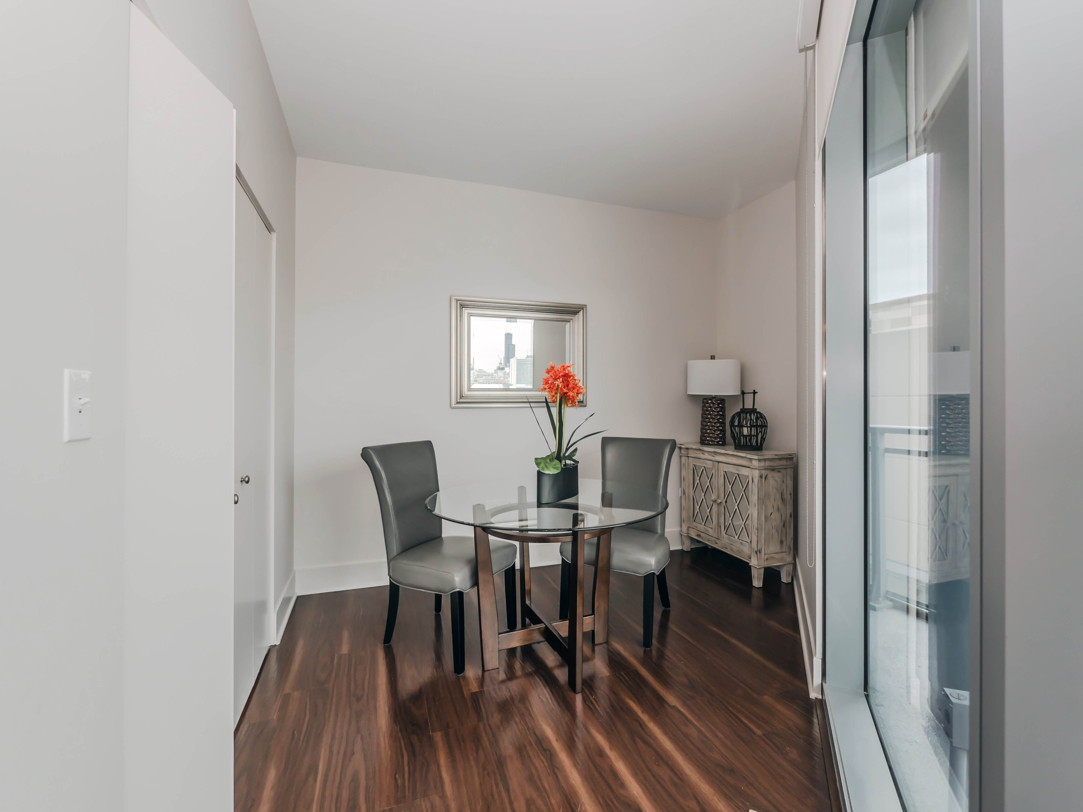 one bedroom with den. The den area is flexible  Tour a one bedroom plus at the new New City apartments YoChicago