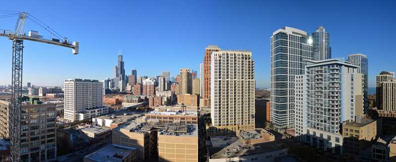 The views from 1345 Wabash in the South Loop
