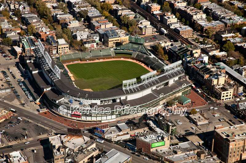 Kardas Photography, Aerial view of Wrigley Field, Chicago, IL