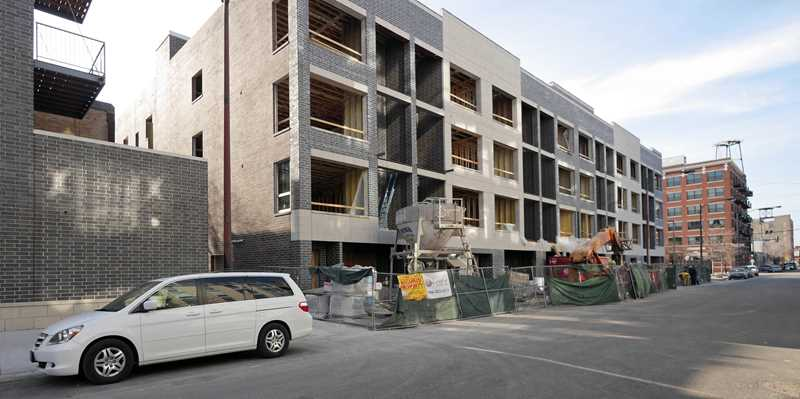 West Loop infill apartments, a construction update
