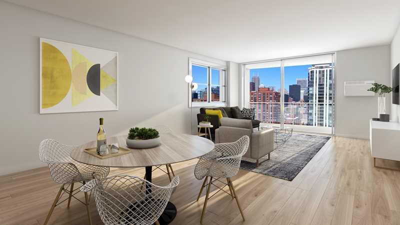 Stylish new apartments at Wave Lakeview, just steps from Belmont Harbor