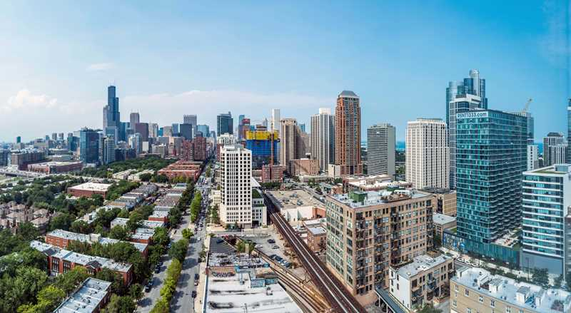 Loft-style updated apartments at 1401 South State in the South Loop