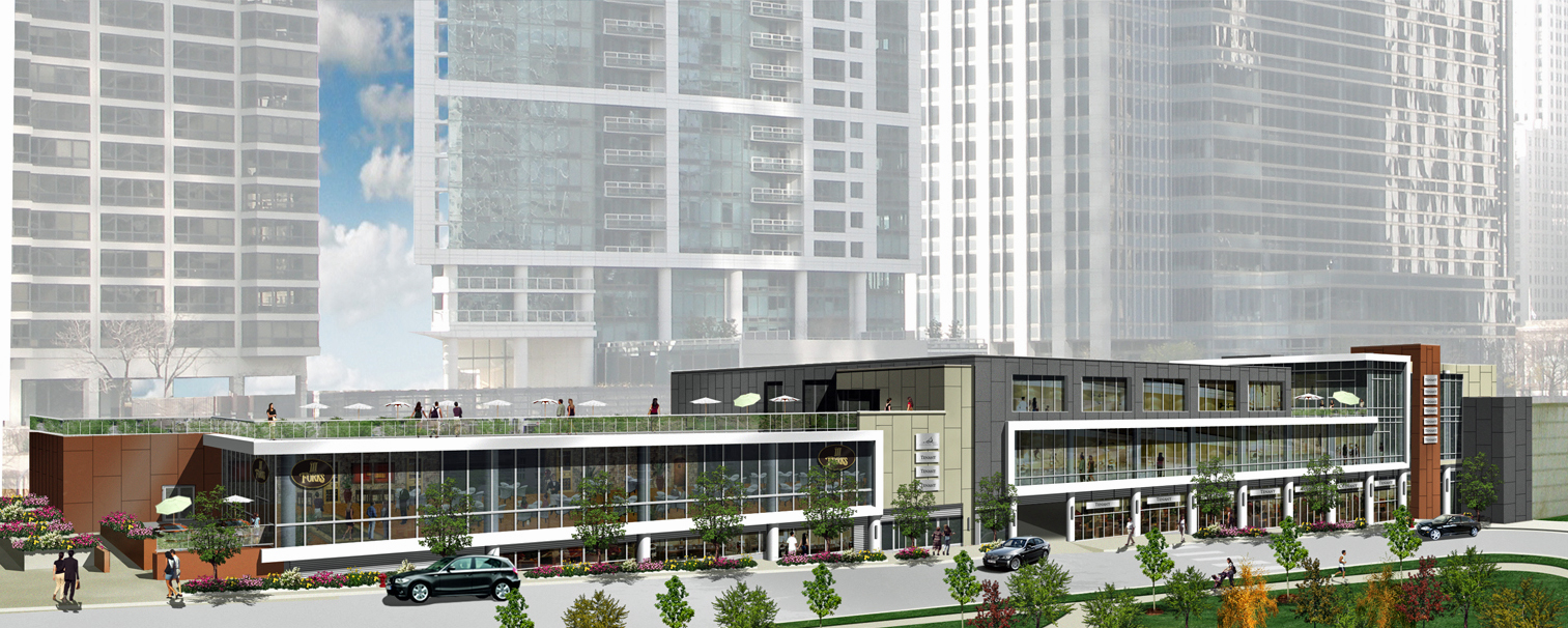 Ground breaks on Lakeshore East's Roundy's