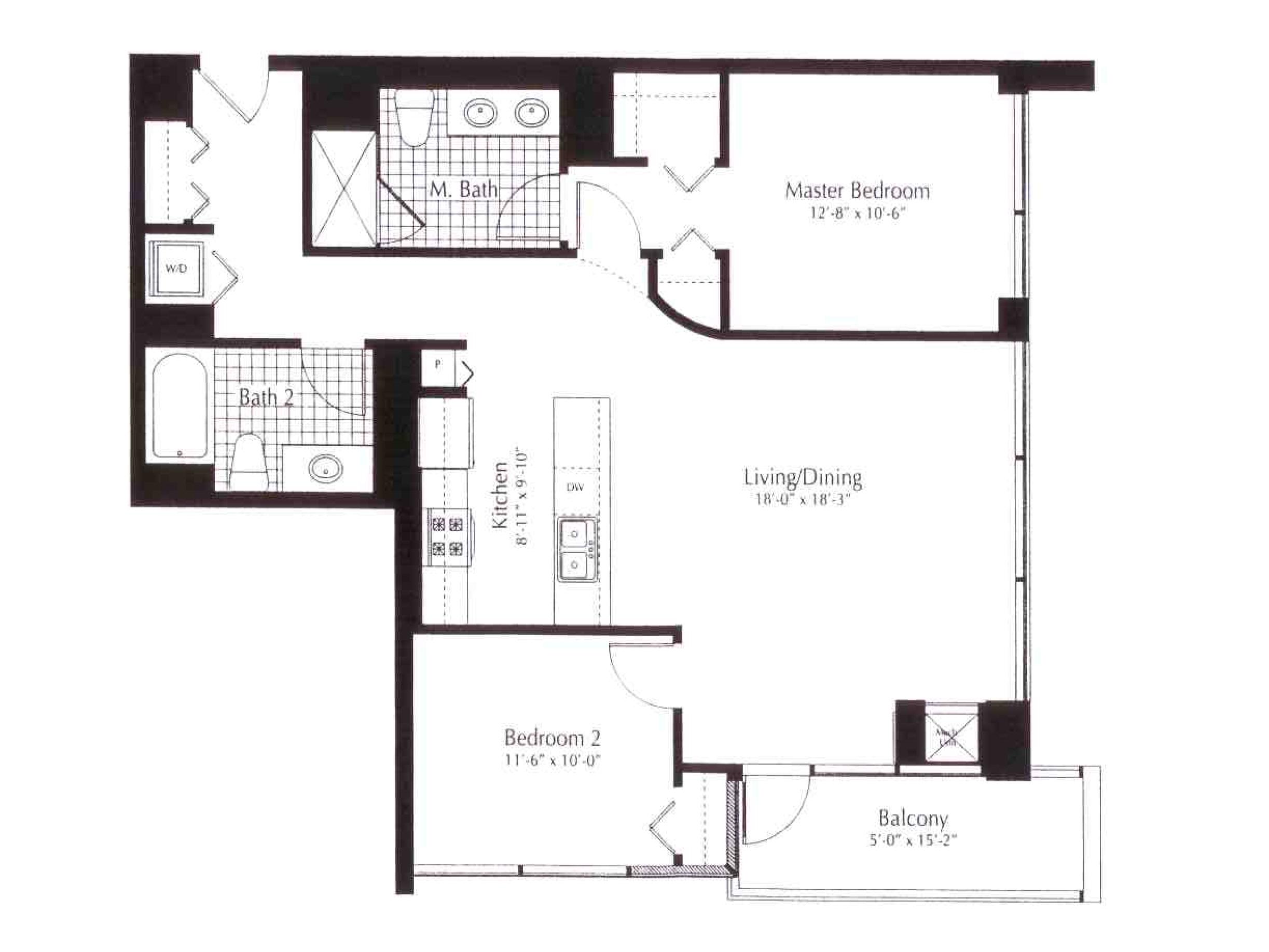 100 2 bedroom 2 bath condo floor plans g plan 100