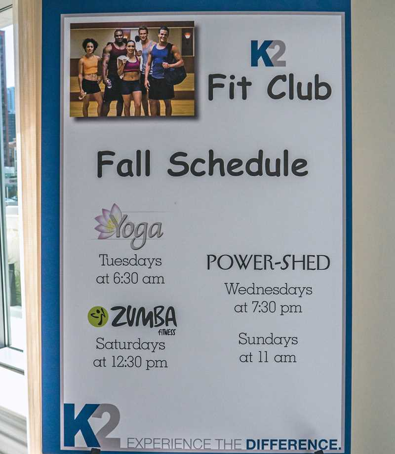 Join the Fit Club at K2 Apartments