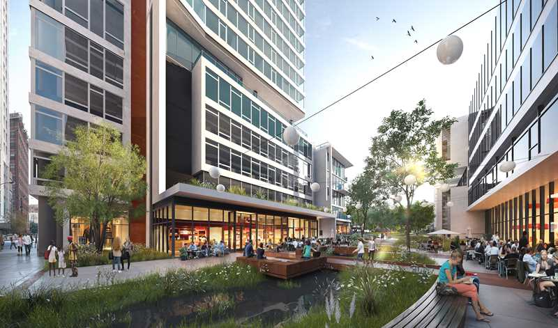 Southbank rendering, Chicago