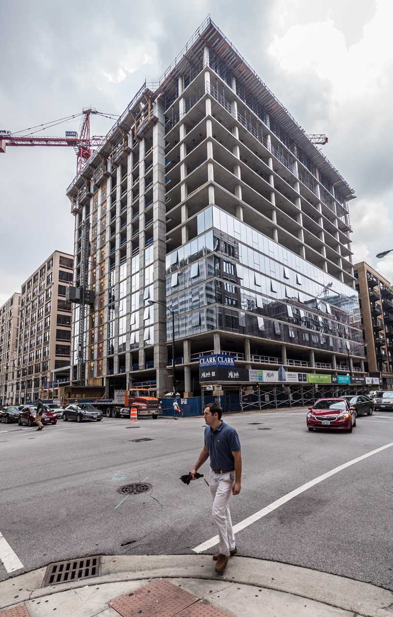 Jeff Jack Apartments nearly topped out in the West Loop