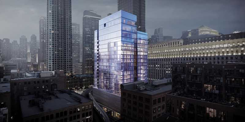 Luxury details at River North's new HUBBARD221 apartments